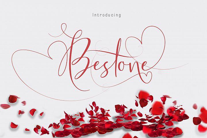 Bestone lovely font