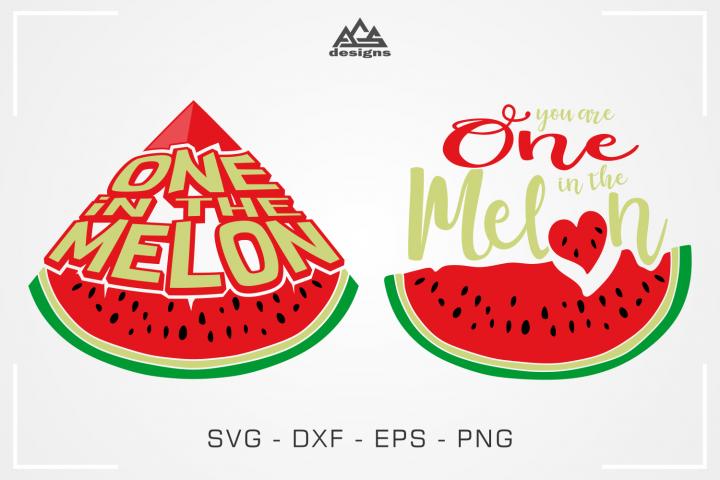 One In The Melon - Valentine Svg Design