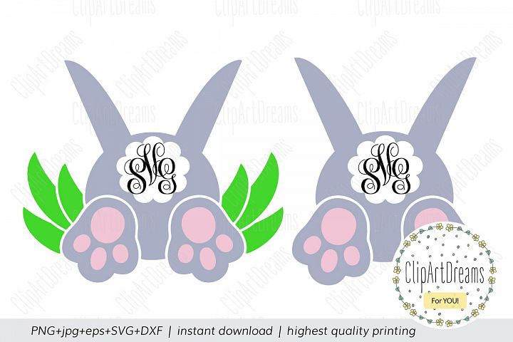 Spring SVG, Cotton Tail svg, Bunny backside bottom SVG