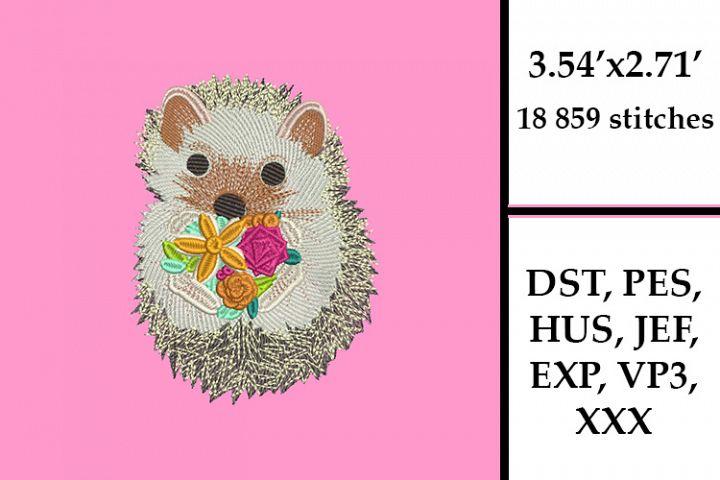 Cute Hedgehog Embroidery Design