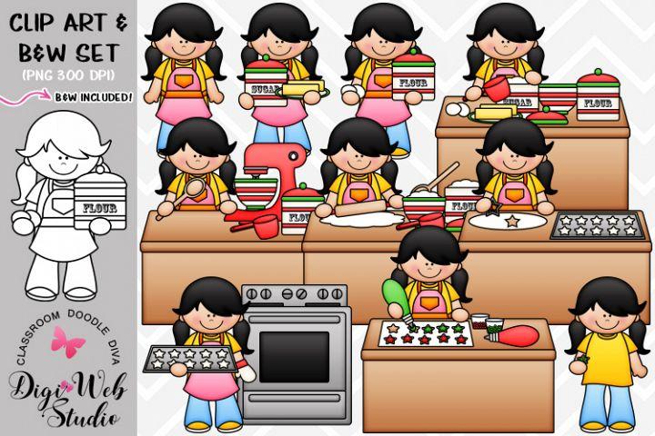Clip Art / Illustrations - Megan Bakes Christmas Cookies