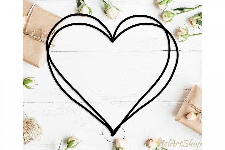 Heart frame svg design