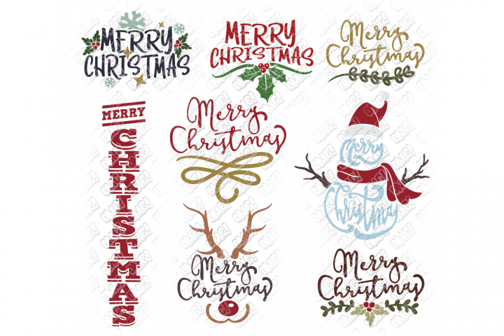 Merry Christmas SVG Bundle in SVG, DXF, PNG, EPS, JPEG