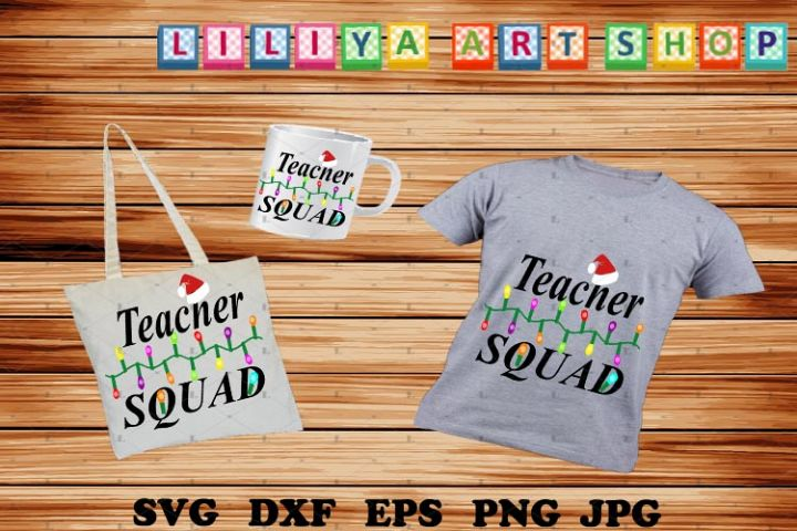 Christmas Teacher Squad svg,Elf hat svg,Teacher Squad svg