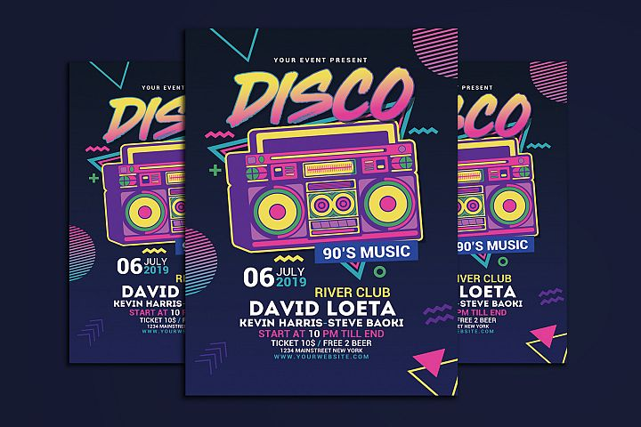 Disco Retro Music Party