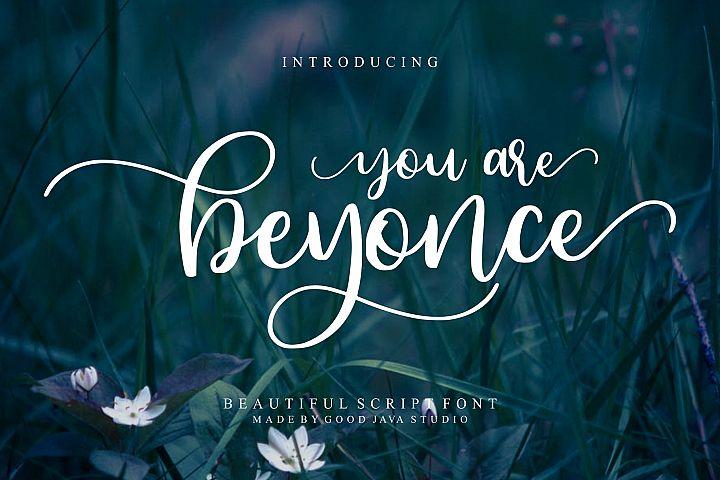 Beyonce - Beauty Font