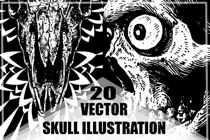 20 VECTOR skull illustration