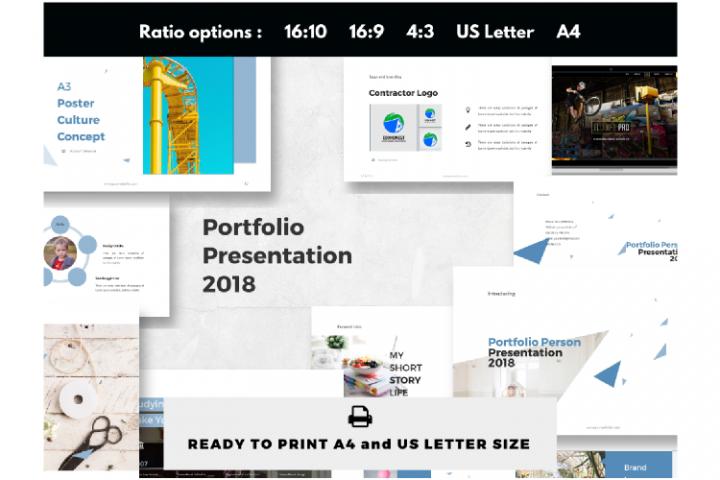 Portfolio Presentation Classroom Designer PowerPoint