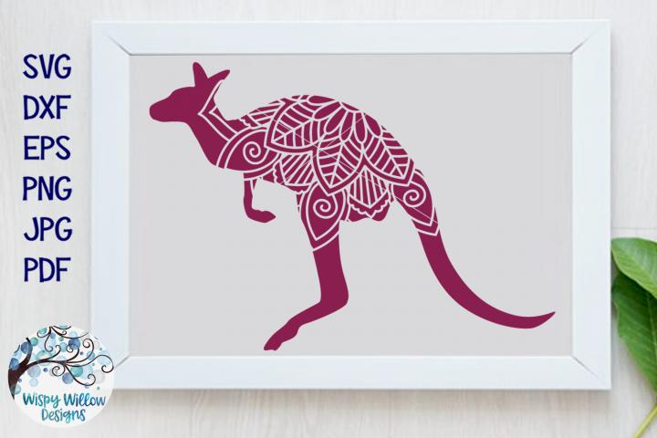 Kangaroo Mandala SVG Cut File