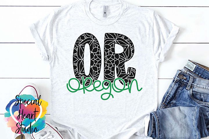 Oregon Mandala - A State SVG Cut File