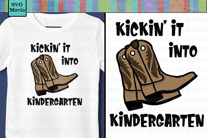 Kindergarten Boy Back to School SVG File, Cowboy School SVG