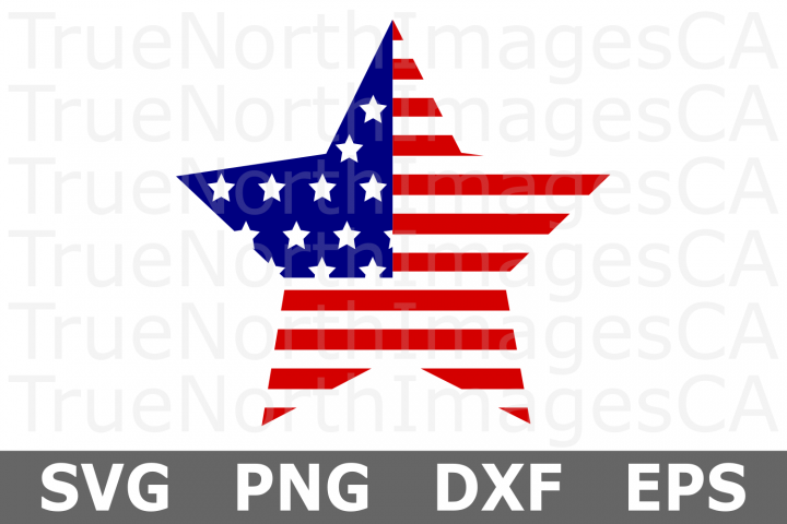 American Flag Star - An American SVG Cut File