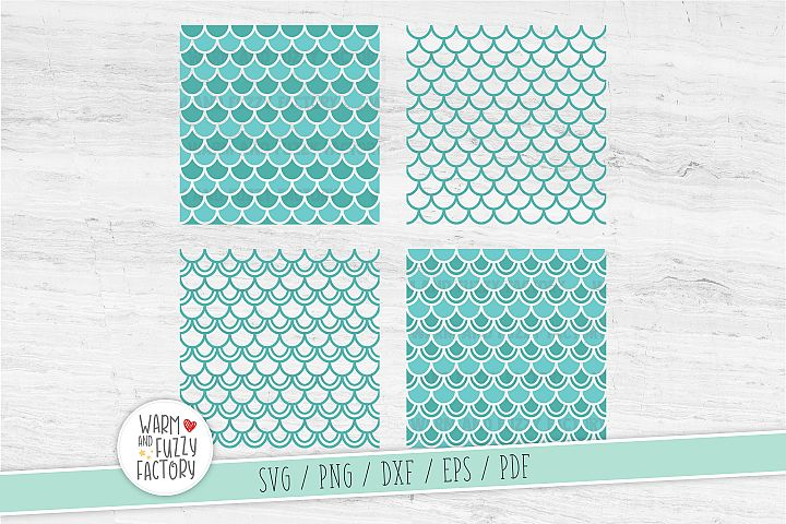 Mermaid pattern svg, Mermaid scales svg, Seamless pattern