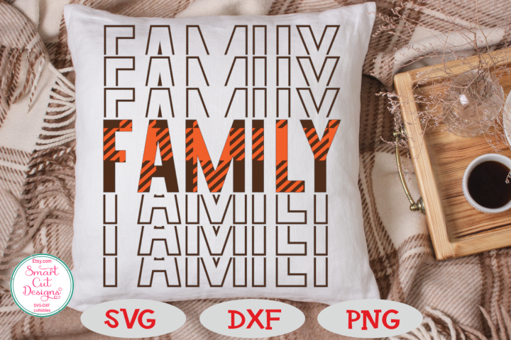 Family SVG, Mirrored, Buffalo Plaid SVG, Thanksgiving SVG