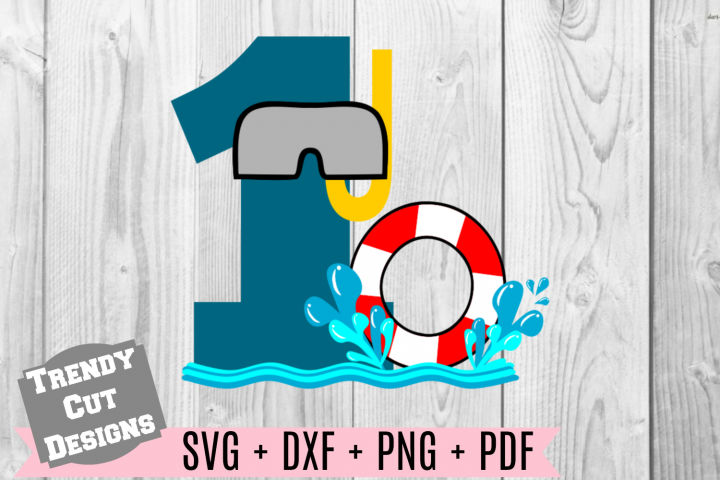 Pool Party Number 1st Birthday SVG