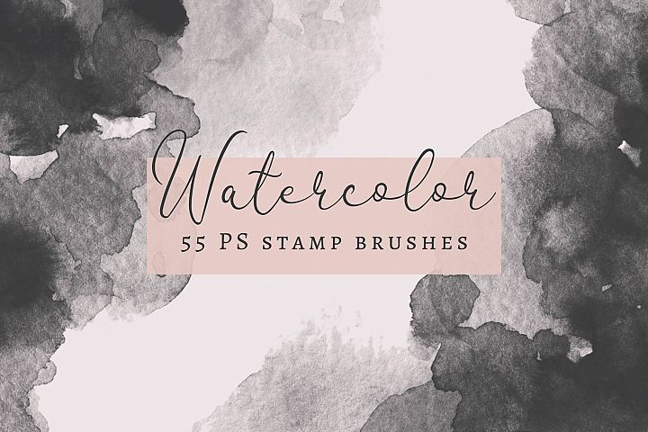 55 PS Watercolor Stamp Brushes