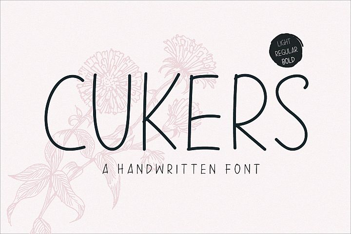 Cukers - A Handwritten Font
