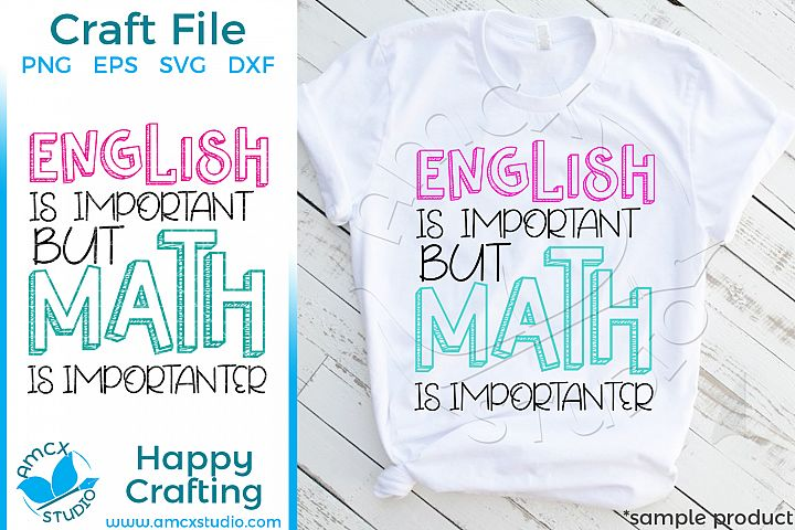 English Is Important BUT Math is importanter Craft Files example