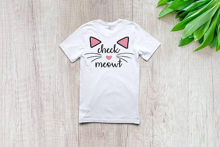Check Meowt   SVG Vector File   Cutting and Printing