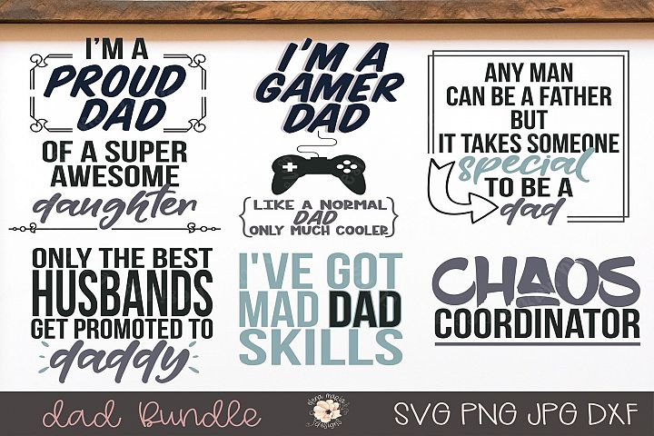Dad Svg Bundle Father Shirt Designs Svg