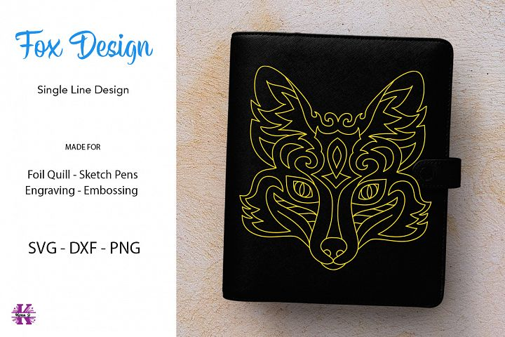 Fox Design for Foil quill|Single Line Design