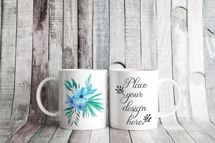 Two coffee mug mock ups double rustic mockup mugs set of 2 c