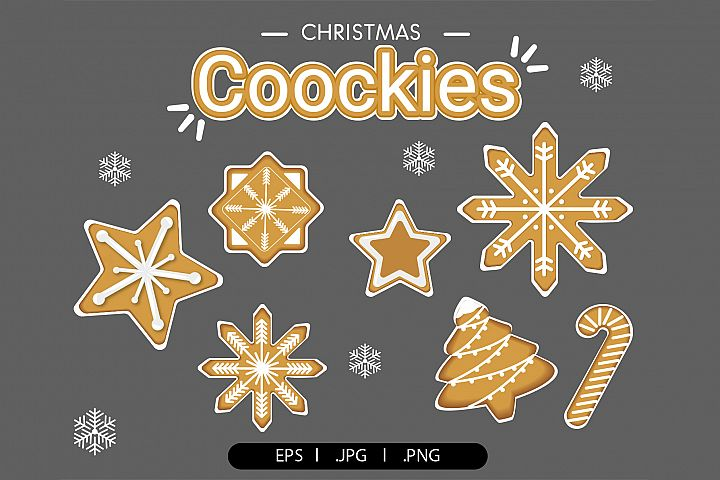 Christmas cookies clipart vol.1