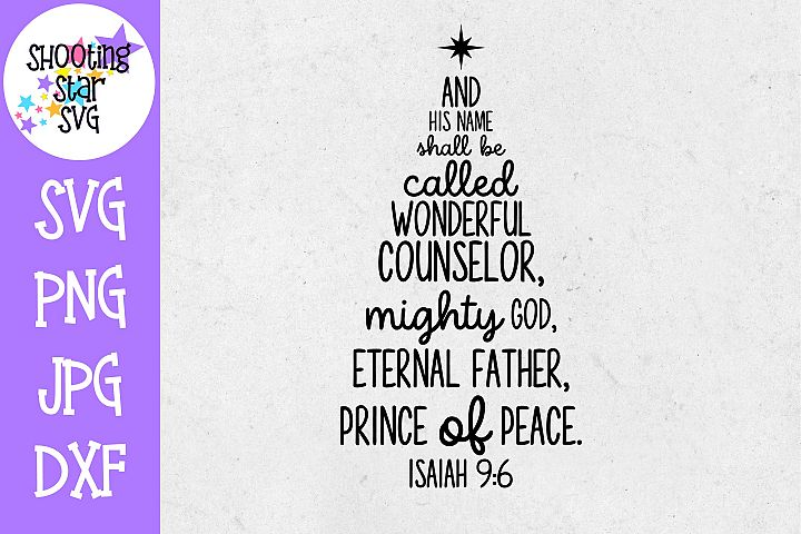 Isaiah 9-6 SVG - Subway Art - Christmas SVG - Religious SVG