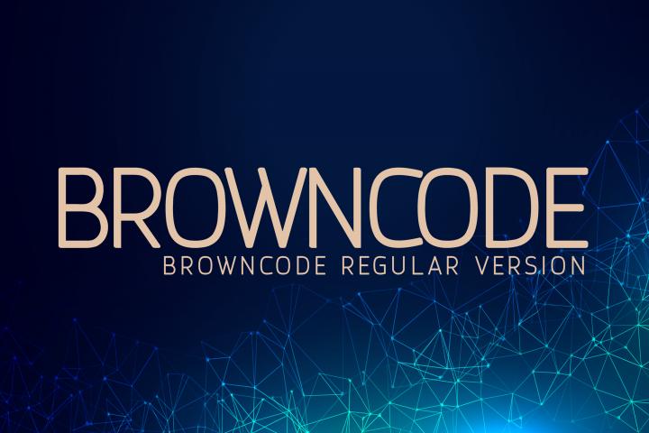Browncode Regular Versionl Elegant font sans serif