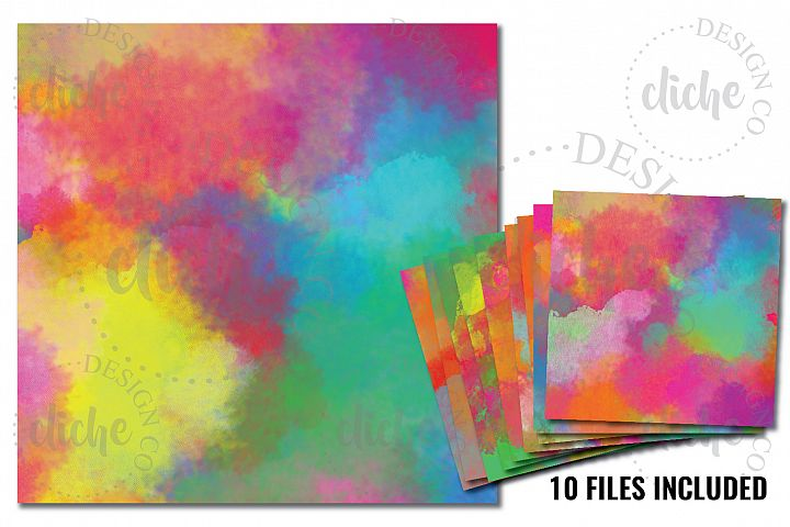 Rainbow Digital Paper Bundle