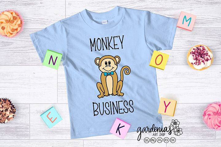 Boy Monkey SVG | Monkey Cut File | Monkey Clip Art