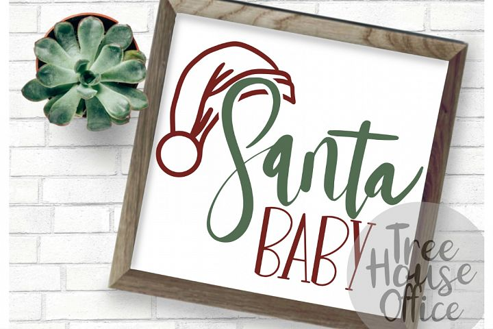 Santa Baby Christmas Ho Ho Ho Holiday SVG DXF PNG JPEG