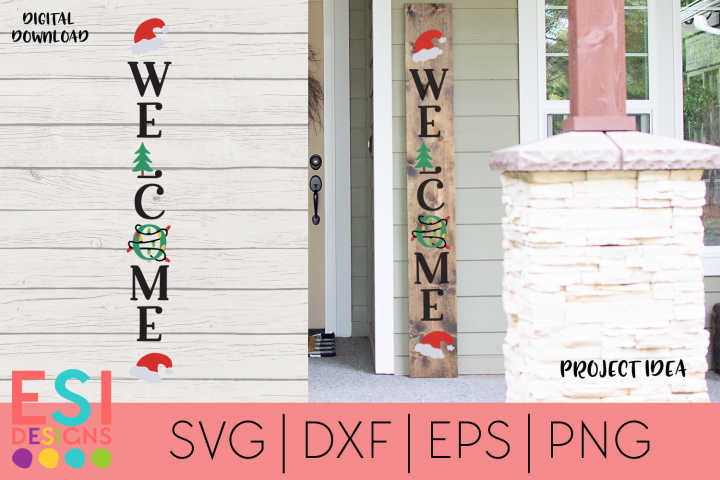 Christmas Porch Sign SVG| Welcome Sign | Wood Sign