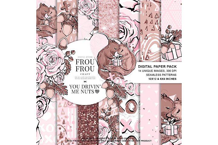 Valentine Day Romantic Love Squirrel Paper Pack
