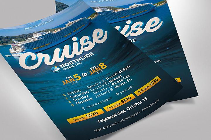 Cruise Travel Flyer Photoshop Template