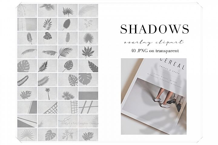 Realistic Shadow Clipart - Shadows Photo Overlays