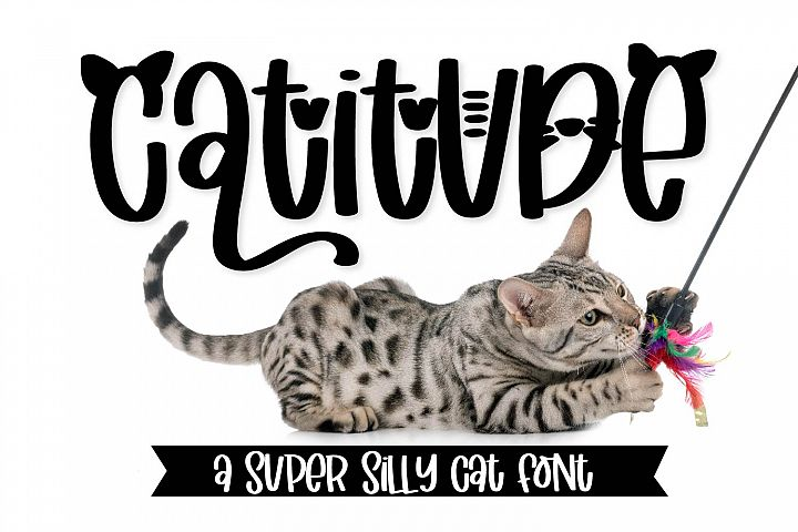 Catitude - A sassy cat font