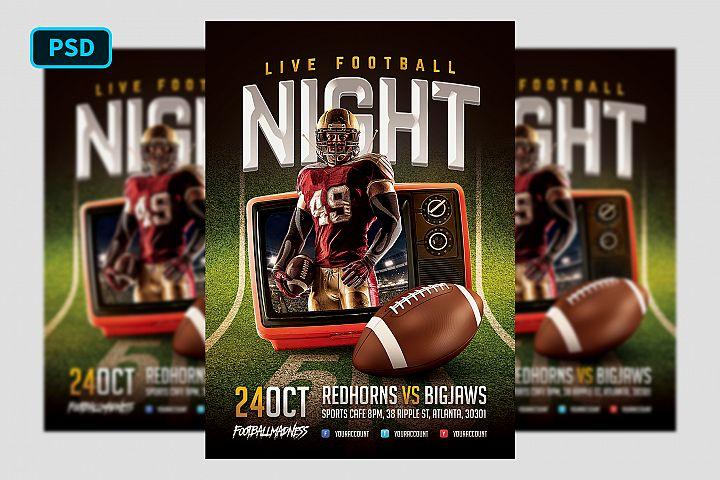 Live Football Flyer Template