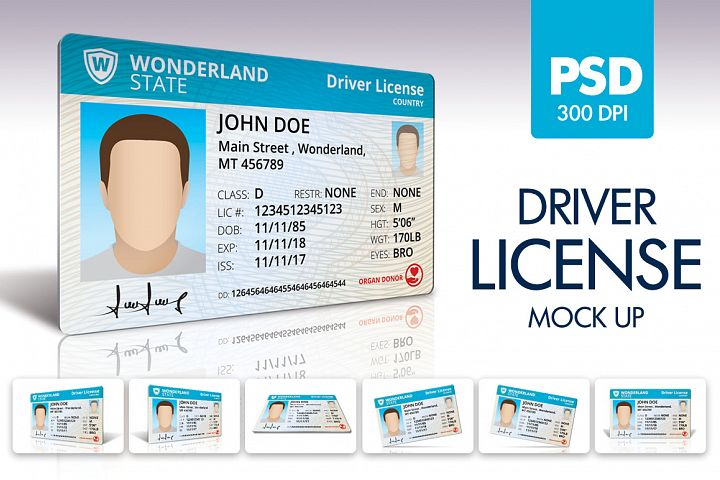 Driver License Mock UP