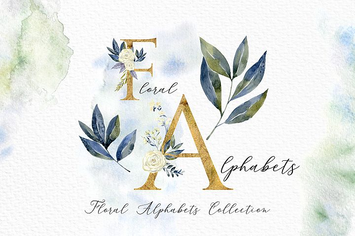Floral Alphabets Collection.