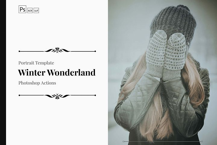 Neo Winter wonderland Color Grading photoshop actions