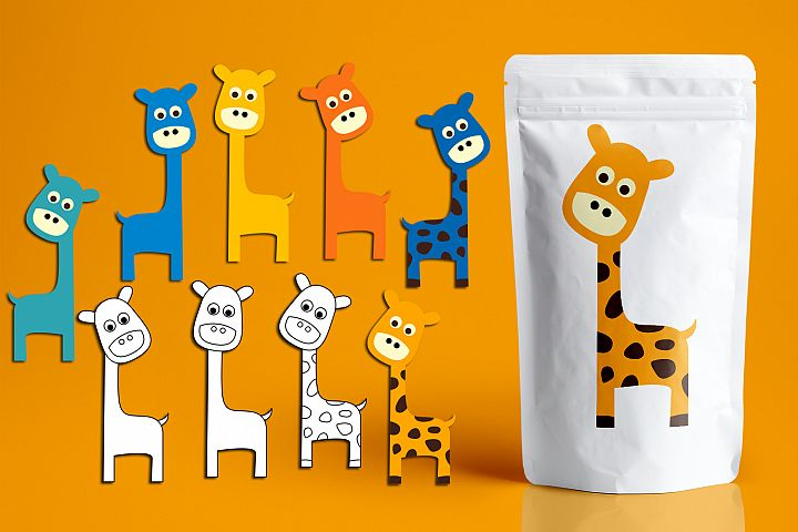 Giraffes graphic illustrations
