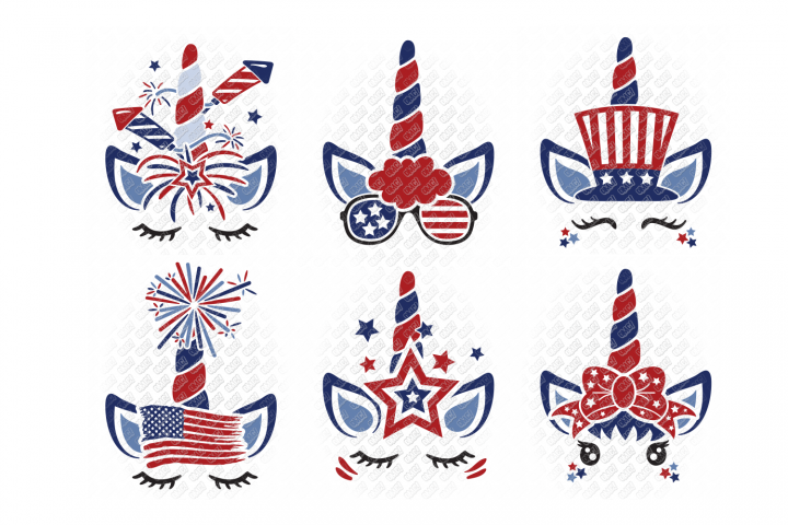 4th of July Unicorn SVG in SVG, DXF, PNG, EPS, JPEG