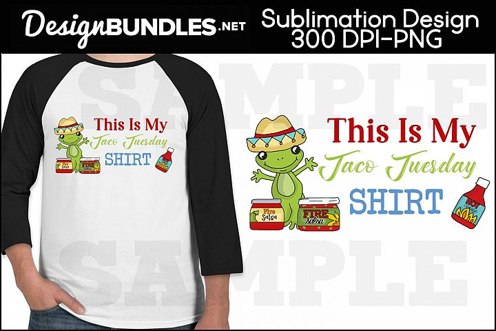 Taco Tuesday Sublimation Design