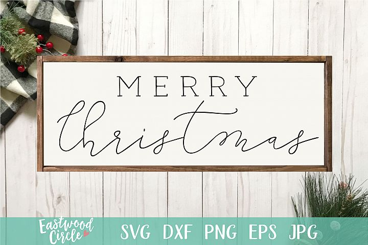 Merry Christmas - Christmas SVG File for Signs