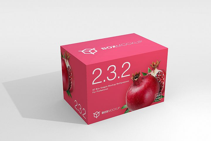 2.3.2 Simple 3D Box Mockup PSD