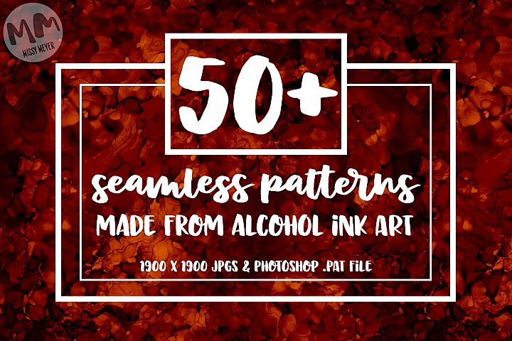 50 Seamless alcohol ink patterns