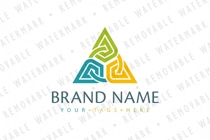 Abstract Chained Triangle Logo