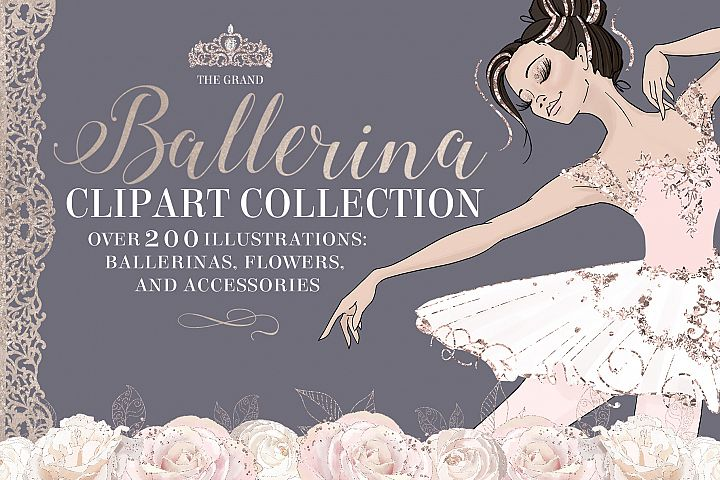 The Grand Ballerina Clipart Collection