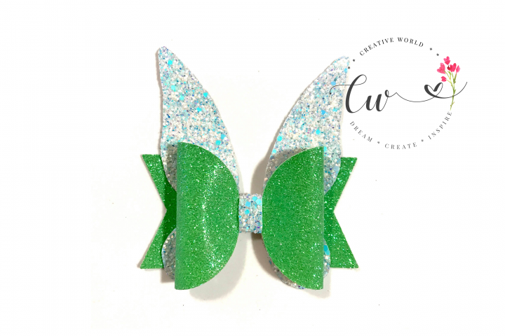 Fairies Hair Bow Digital Template |Hair Bow Template